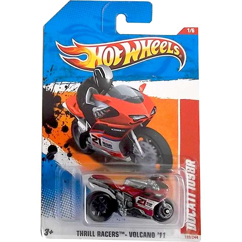 2011 Hot Wheels Ducati 1098R #21 V0021 series 1/6 199/244 escala 1/64