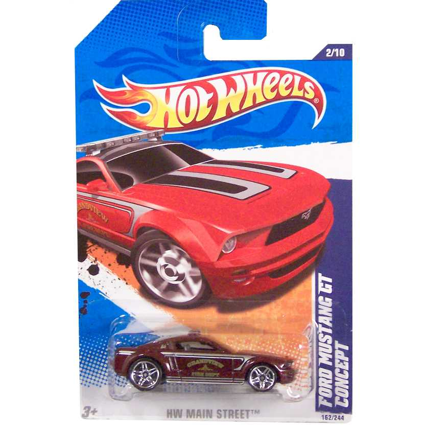 2011 Hot Wheels Ford Mustang GT Concept T9869 series 2/10 162/244 escala 1/64