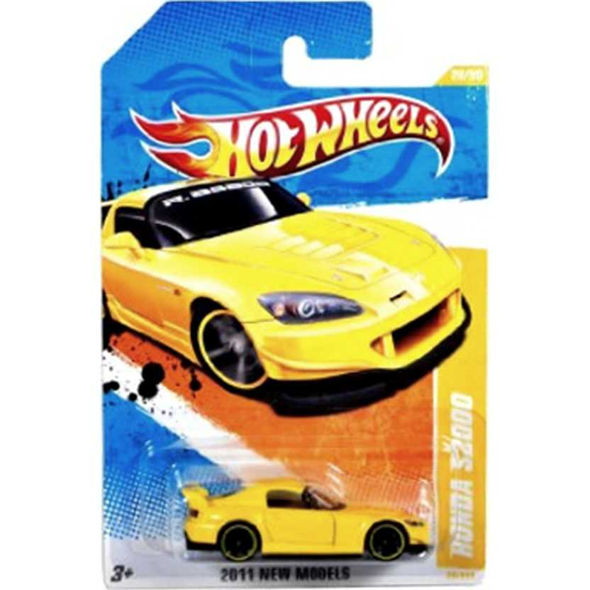 2011 Hot Wheels Honda S2000 amarelo RARO T9690 series 20/50 20/244 escala 1/64