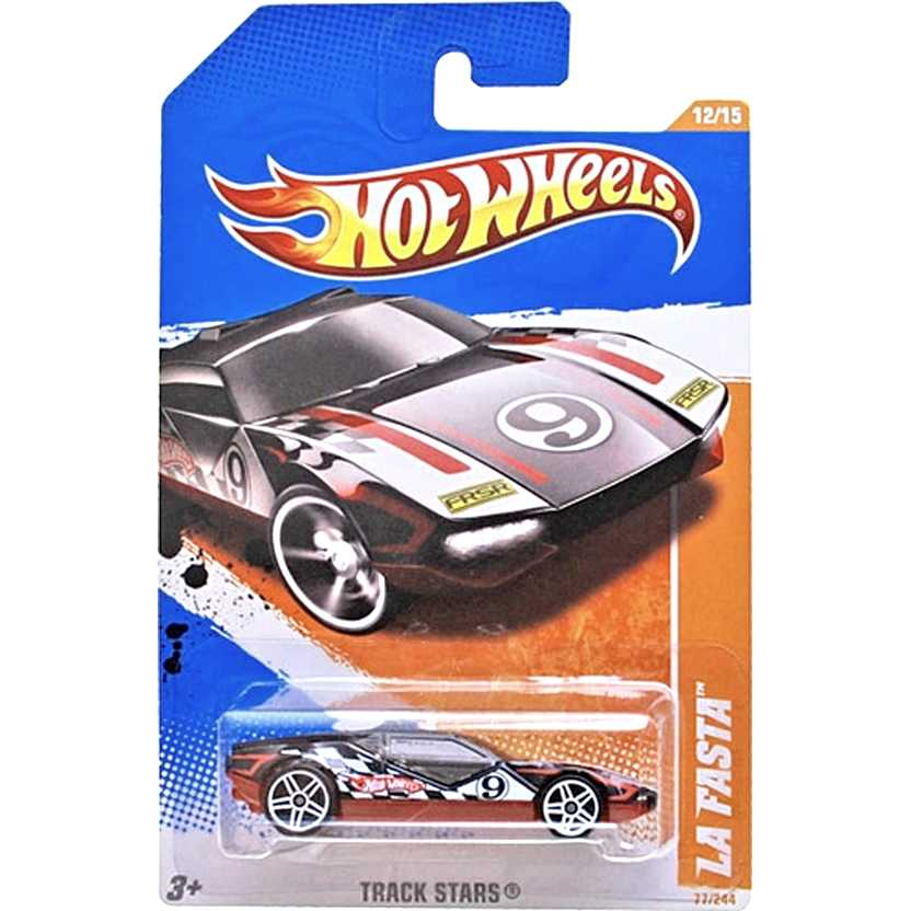 2011 Hot Wheels La Fasta preto T9762 series 77/244 escala 1/64