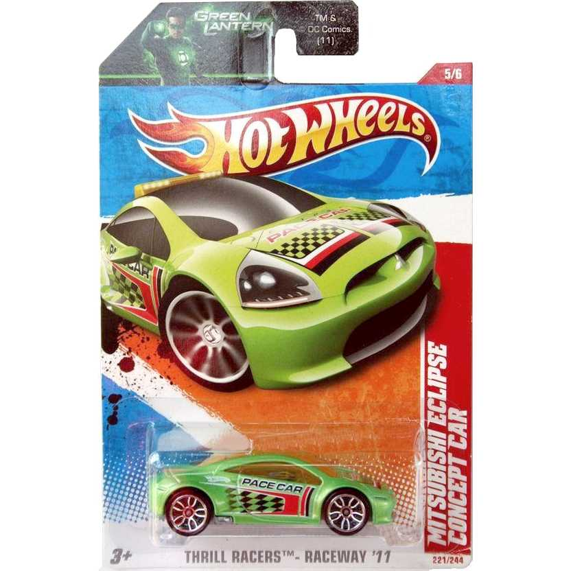 2011 Hot Wheels Mitsubishi Eclipse Concept Car verde T9928 series 5/6 221/244 escala 1/64