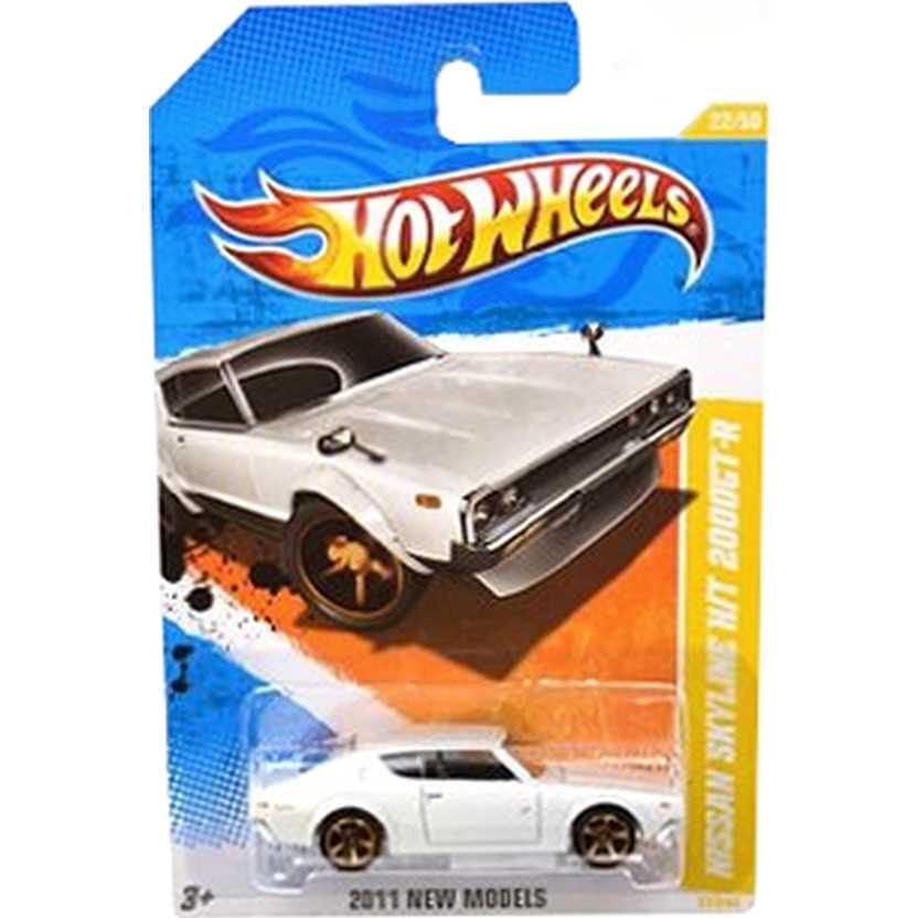 2011 Hot Wheels Nissan Skyline H/T 2000GT-R branco X0092 series 22/50 22/244 escala 1/64