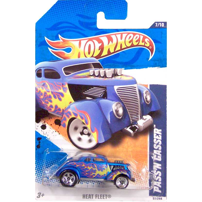2011 Hot Wheels PassN Gasser azul T9804 series 7/10 97/244 escala 1/64