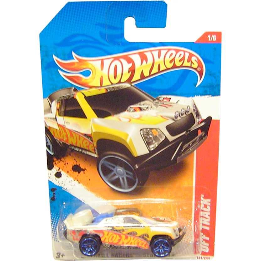 2011 Hot Wheels Pickup Off Track branco pérola V0020 series 1/6 181/244 escala 1/64