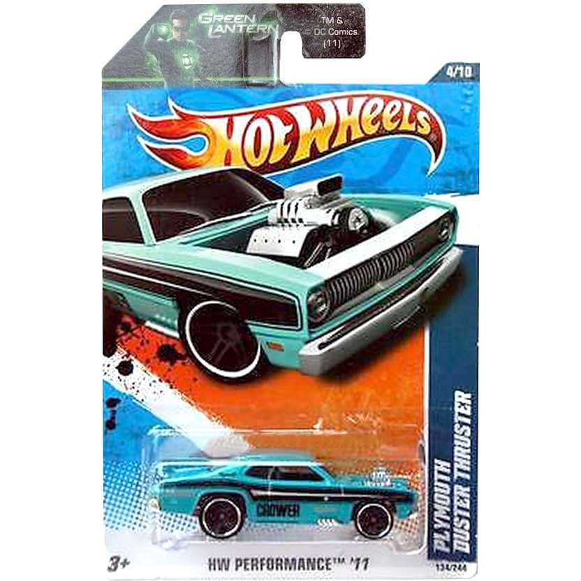 2011 Hot Wheels Plymouth Duster Thruster azul T9987 series 4/10134/244 escala 1/64