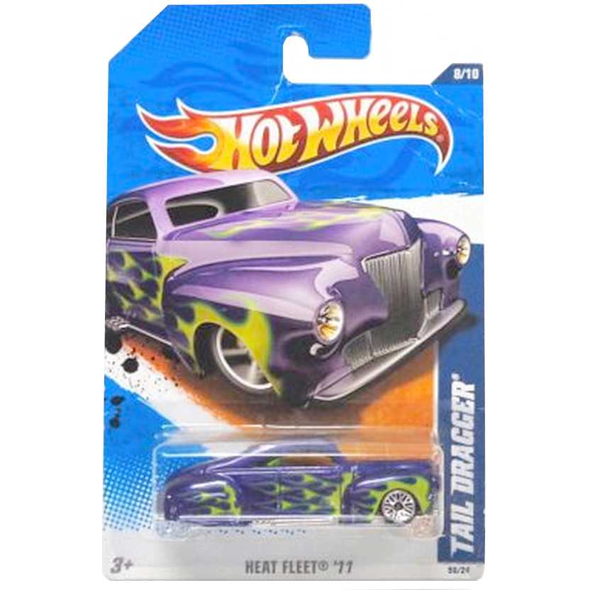 2011 Hot Wheels Tail Dragger roxo V0064 series 8/10 98/244 escala 1/64