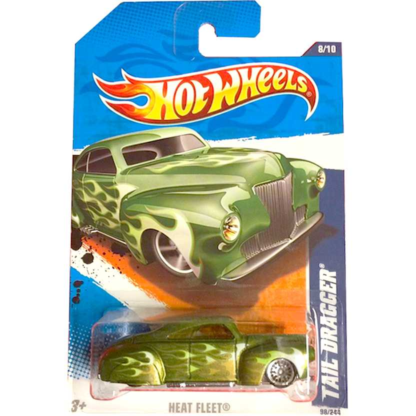2011 Hot Wheels Tail Dragger verde T9805 series 8/10 98/244 escala 1/64