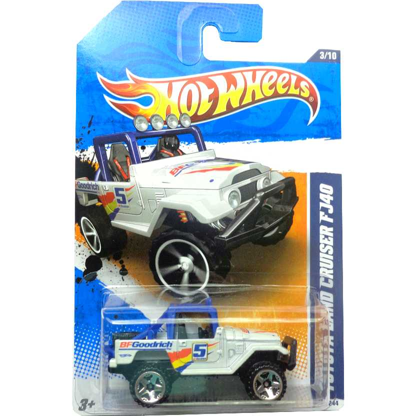2011 Hot Wheels Toyota Land Cruiser FJ40 BFGoodrich T9840 series 3/10 133/244 escala 1/64
