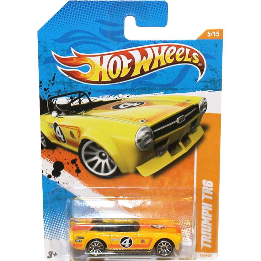 2011 Hot Wheels Triumph TR6 amarelo T9755 series 70/244 escala 1/64