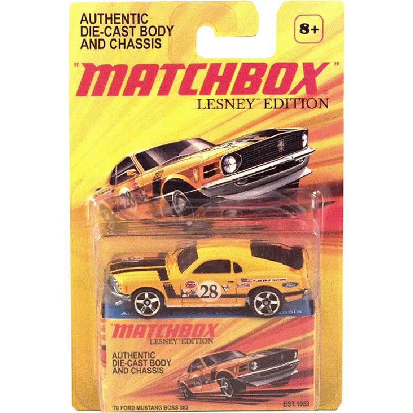 2011 Matchbox Lesney Edition 70 Ford Mustang Boss 302 V0970 escala 1/64