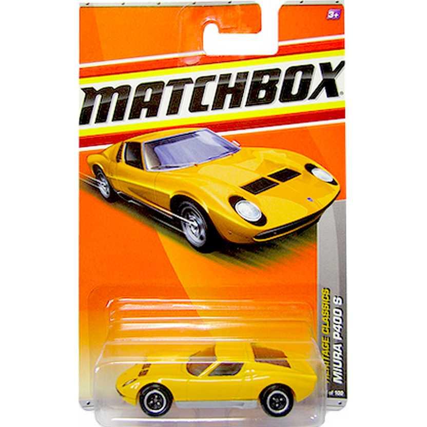 2011 Matchbox Miura P400 S amarelo escala 1/64 V0272 14 of 100