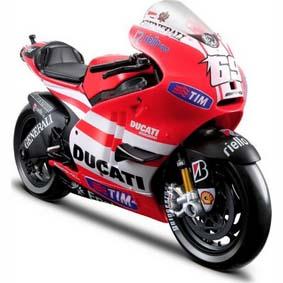 2011 Motos Maisto Miniatura 1/10 Ducati Desmosedici MotoGP Nicky Hayden 69