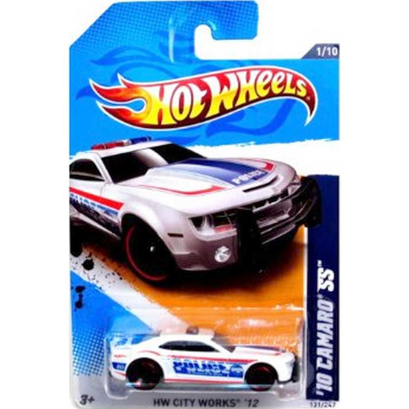 2012 Hot Wheels 10 Camaro SS Police V5434 series 1/10 131/247 escala 1/64