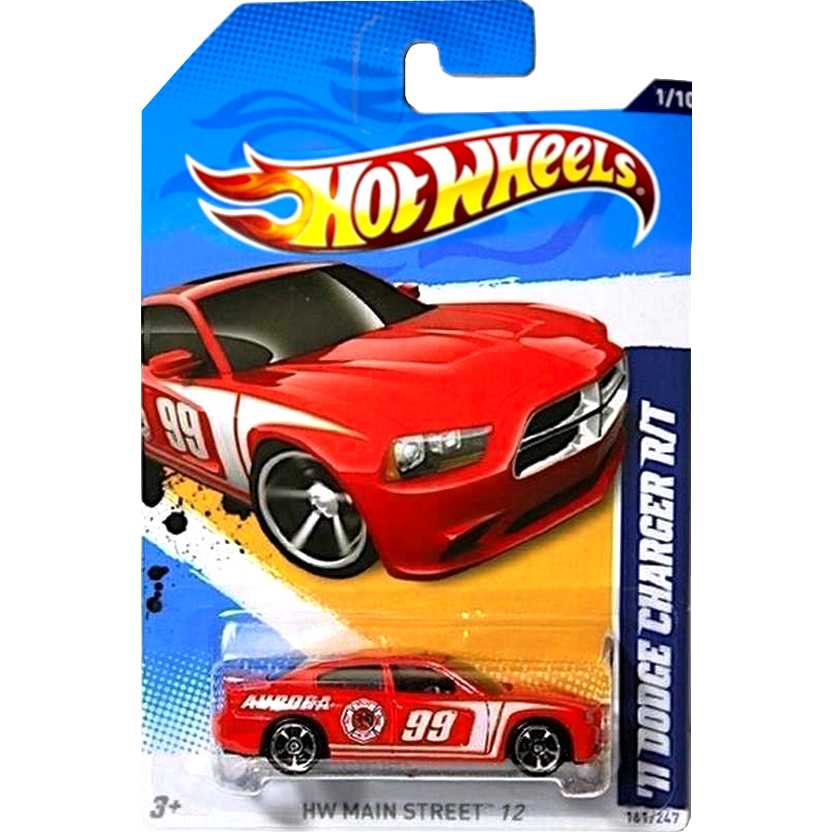 2012 Hot Wheels 11 Dodge Charger R/T bombeiro V5465 series 161/247 escala 1/64
