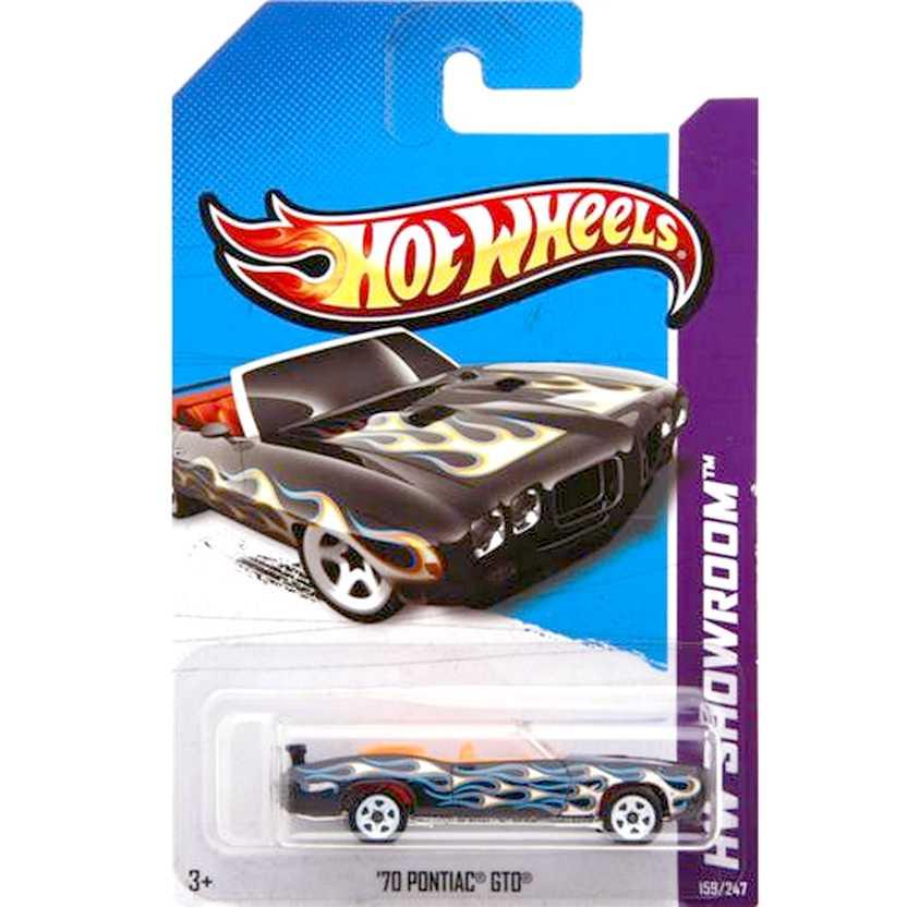 2012 Hot Wheels 70 Pontiac GTO conversível V5463 series 159/247 escala 1/64