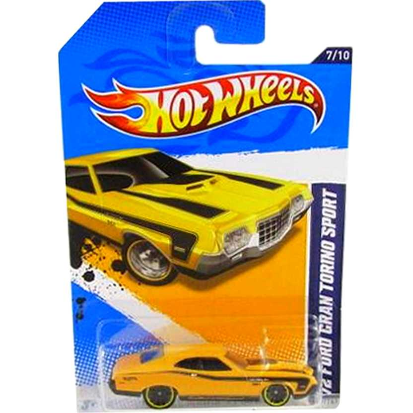 2012 Hot Wheels 72 Ford Gran Torino V5586 series 7/10 117/247 escala 1/64