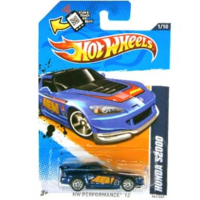 2012 Hot Wheels Chase cars Super Treasure Hunt 2012 Superized Honda S2000 V5377