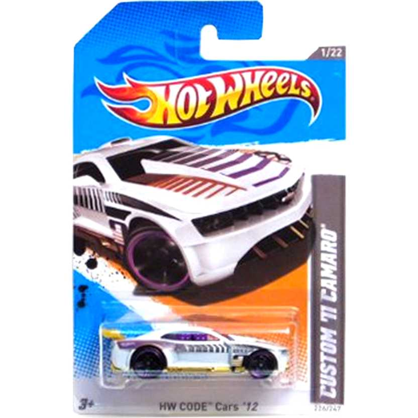 2012 Hot Wheels Custom 11 Camaro branco V5530 series 226/247 escala 1/64
