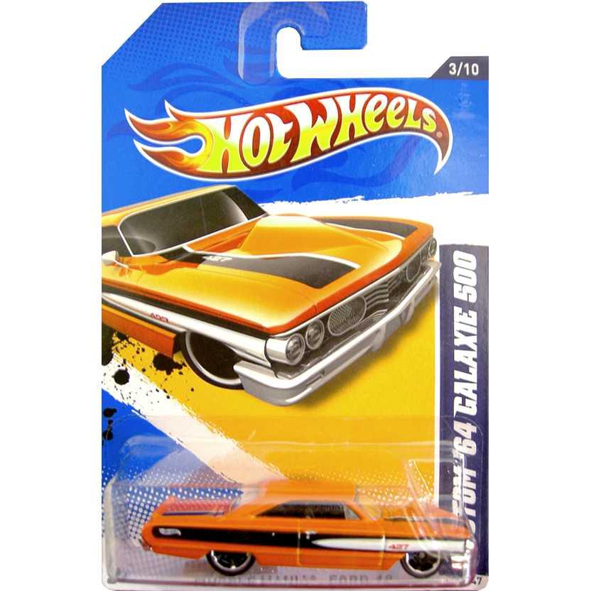 2012 Hot Wheels Custom 64 Galaxie 500 laranja V5416 series 113/247 escala 1/64