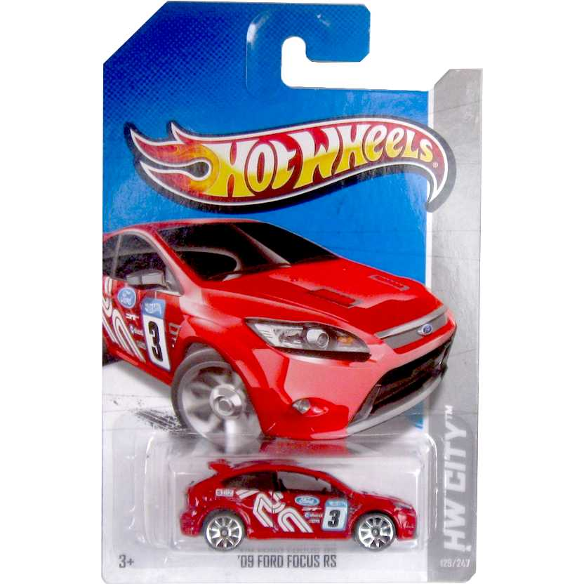 2012 Hot Wheels Ford Focus RS vermelho V5432 series 129/247 escala 1/64