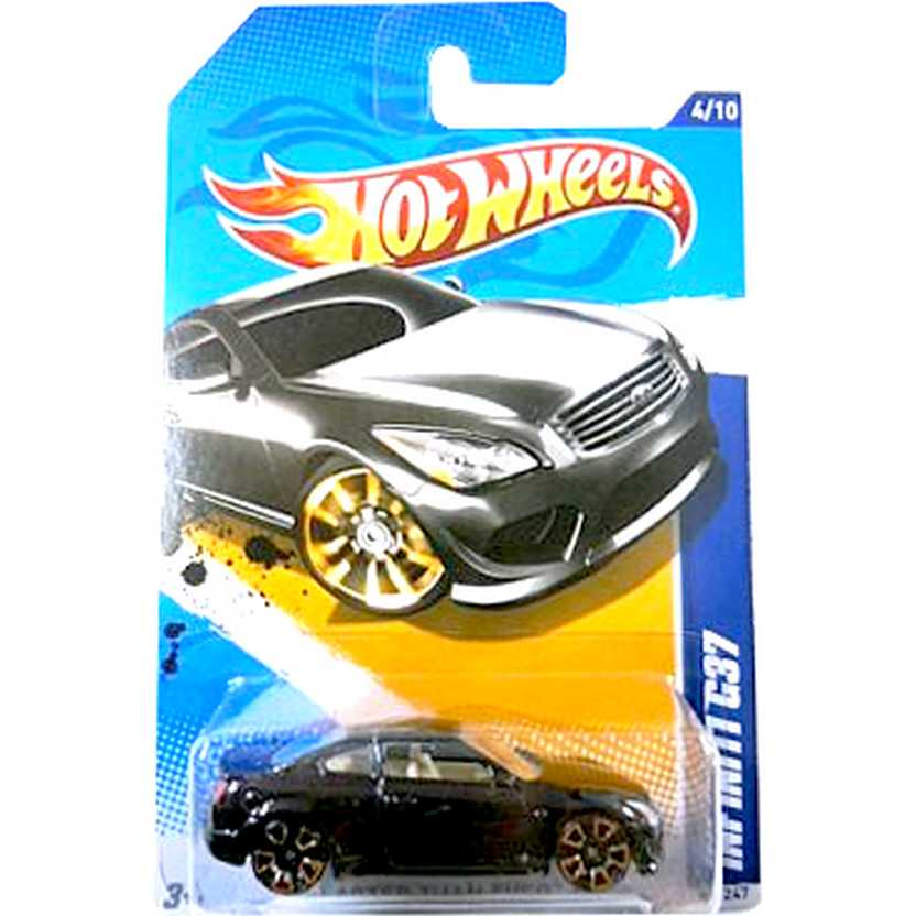 2012 Hot Wheels Infiniti G37 preto V5403 series 94/247 escala 1/64