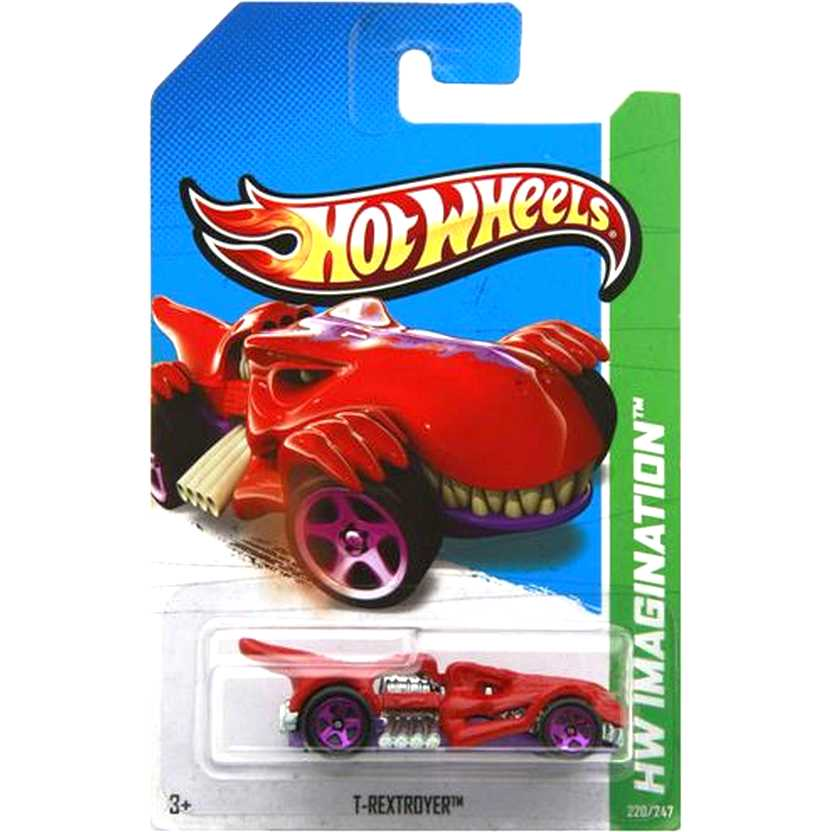 2012 Hot Wheels T-Rextroyer vermelho V5524 series 220/247 escala 1/64