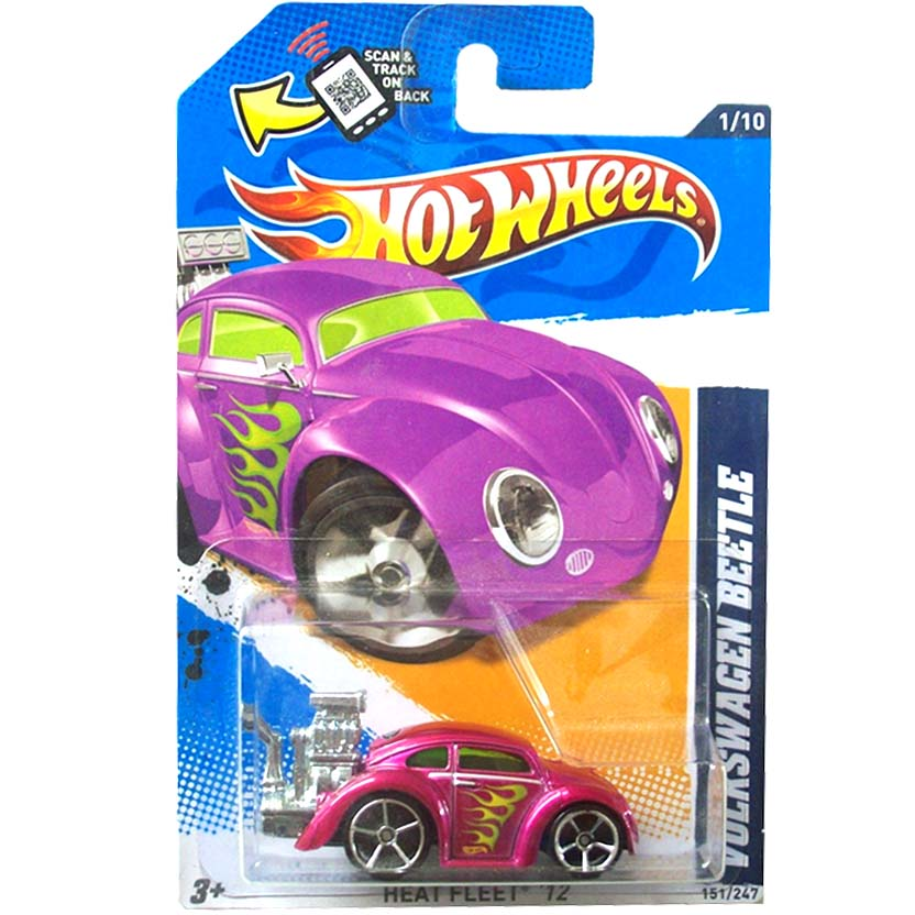 2012 Hot Wheels Volkswagen Beetle VW Fusca rosa V5669 series 1/10 151/247