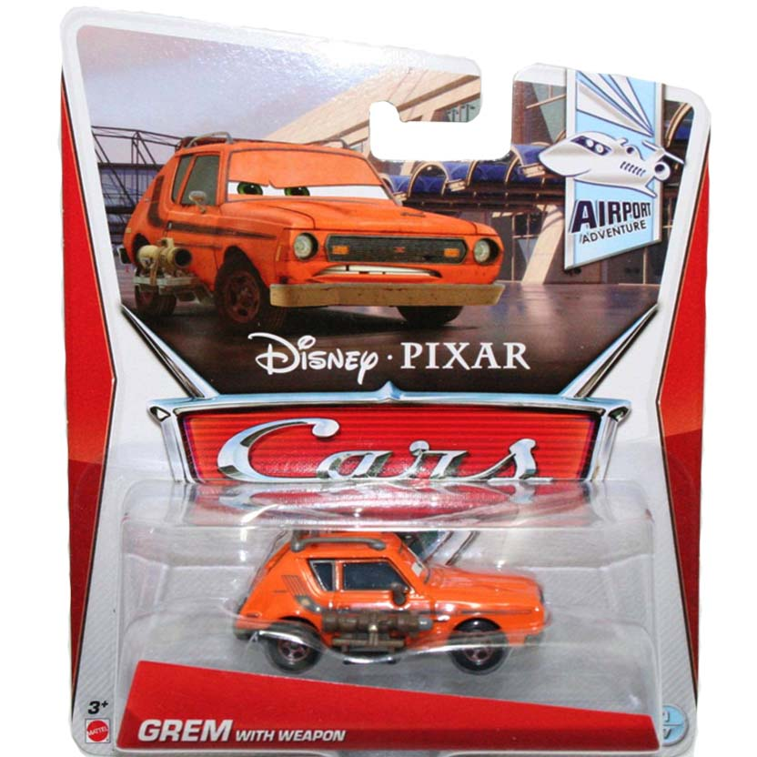 2013 Cars Disney Pixar Retro Airport Adventure 1/7 Grem with weapon