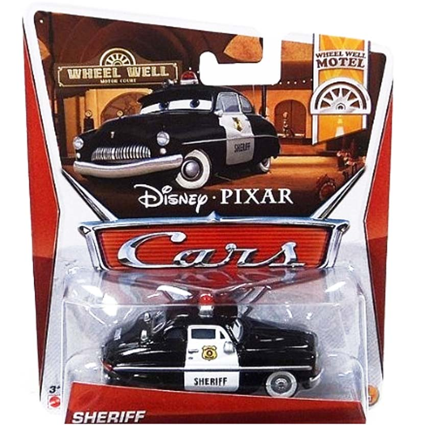 2013 Cars Disney Pixar Sheriff : Wheel Well Motel 1/11 escala 1/55