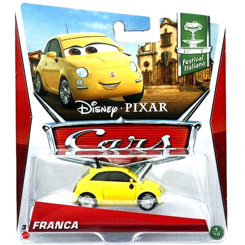 2013 Disney Pixar Cars Retro Festival Italiano 4/10 Franca : Fiat 500