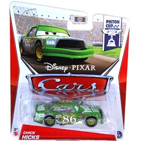 2013 Disney Pixar Cars Retro PC Piston Cup 1/18 Chick Hicks Carros