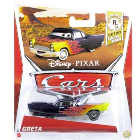 2013 Disney Pixar Cars Retro RS Radiator Springs Greta 6/8