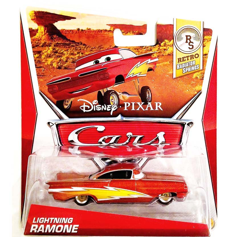 2013 Disney Pixar Cars Retro RS Radiator Springs Lightning Ramone 3/8