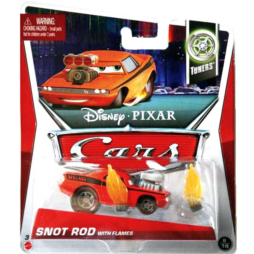 2013 Disney Pixar Cars Retro Tuners 8/10 Snot Rod with flames