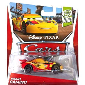 2013 Disney Pixar Cars Retro WGP World Grand Prix 7/17 Miguel Camino