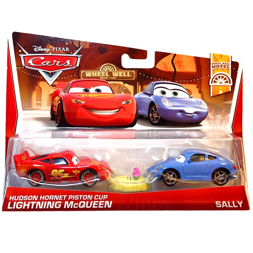 2013 Disney Pixar Cars Retro Wheel Well Motel Lightning McQueen & Sally 5/11