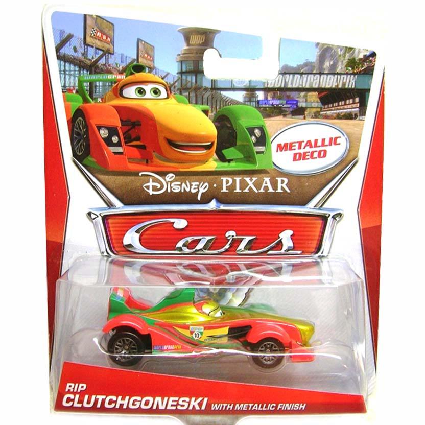 2013 Disney Pixar Cars Rip Clutchgoneski with Metallic Finish (Metallic Deco)