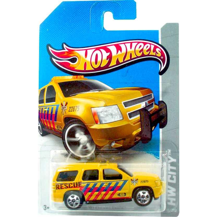 2013 Hot Wheels 07 Chevy Tahoe amarelo X1670 series 13/250 escala 1/64