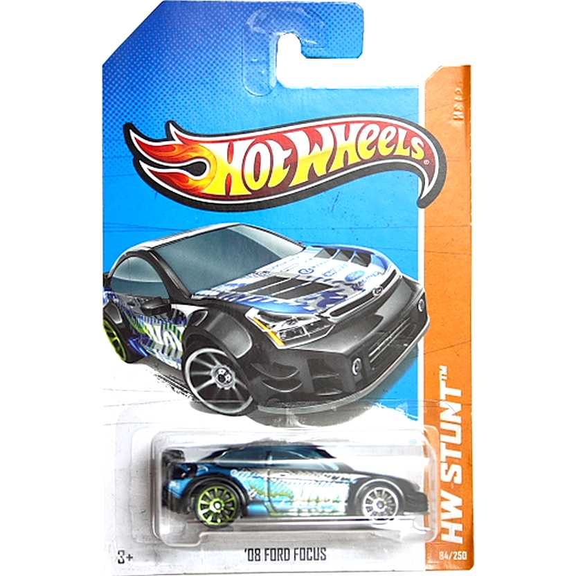 2013 Hot Wheels 08 Ford Focus preto X1909 series 84/250 escala 1/64