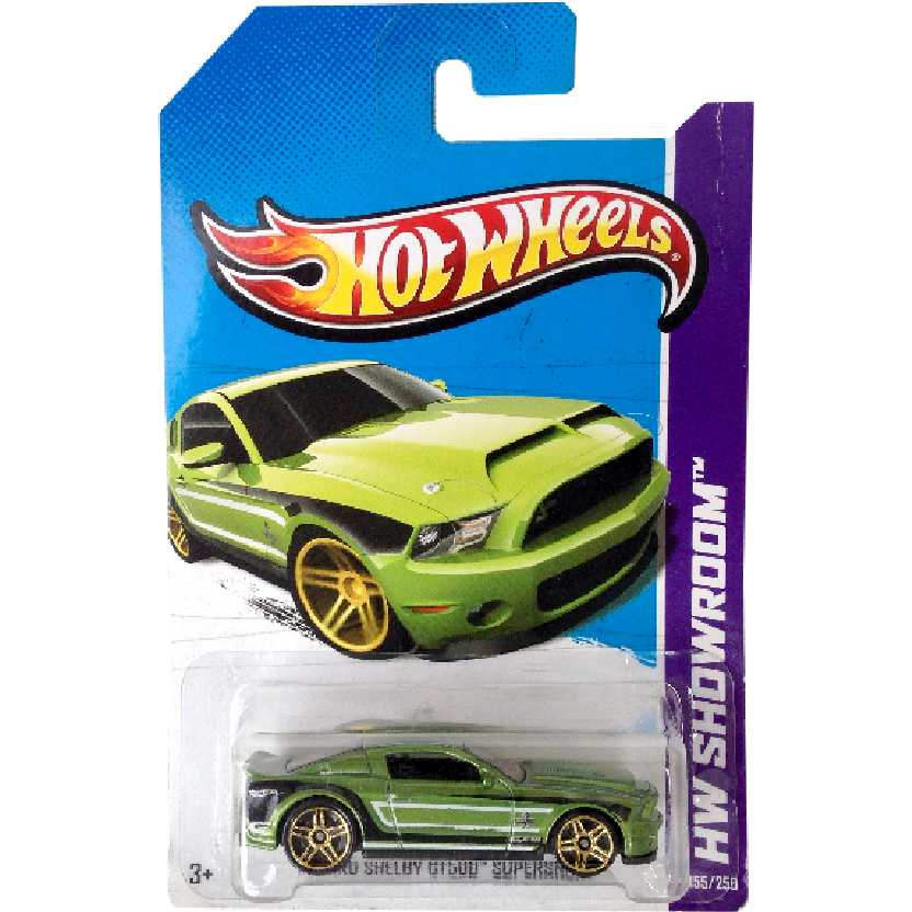 2013 Hot Wheels 10 Ford Mustang Shelby GT500 Supersnake 155/250 X1783 escala 1/64