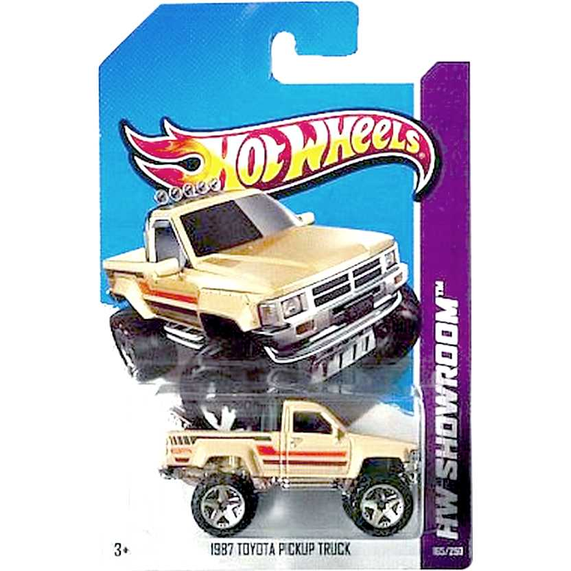 2013 Hot Wheels 1987 Toyota Pickup Truck X1981 series 165/250 escala 1/64