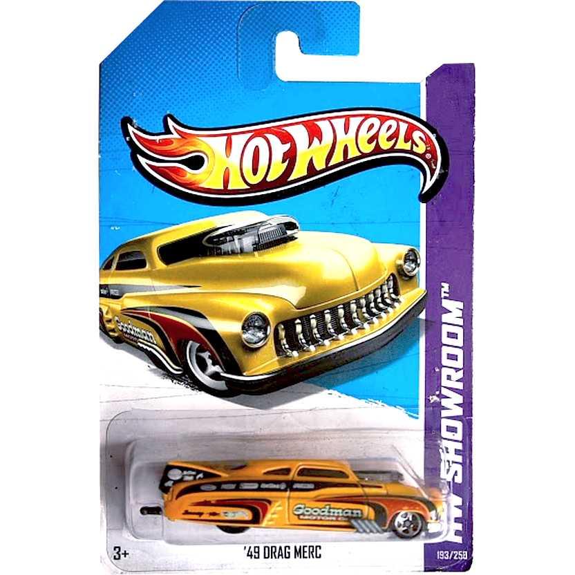 2013 Hot Wheels 49 Drag Merc amarelo X1858 series 193/250 escala 1/64