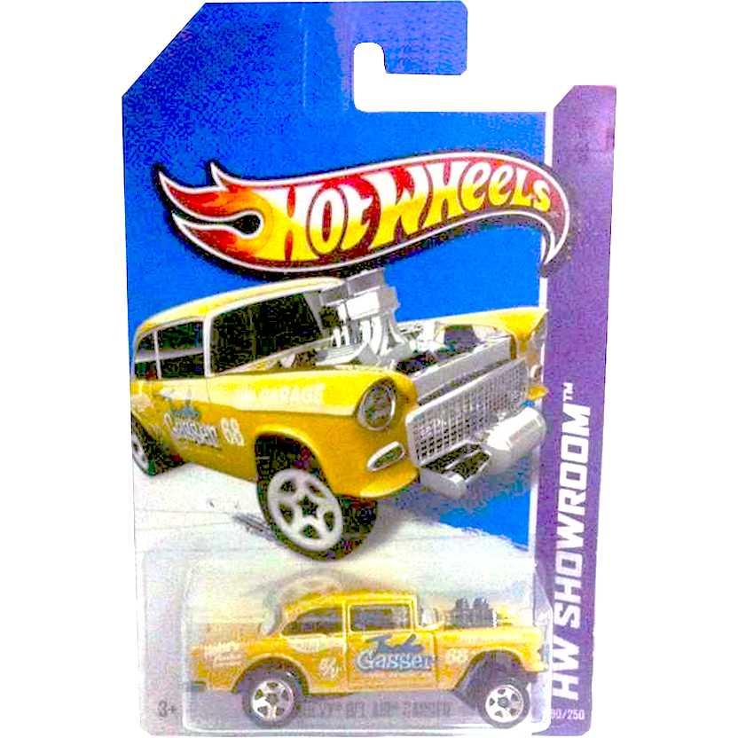 2013 Hot Wheels 55 Chevy Bel Air Gasser dourado X1963 series 190/250 escala 1/64