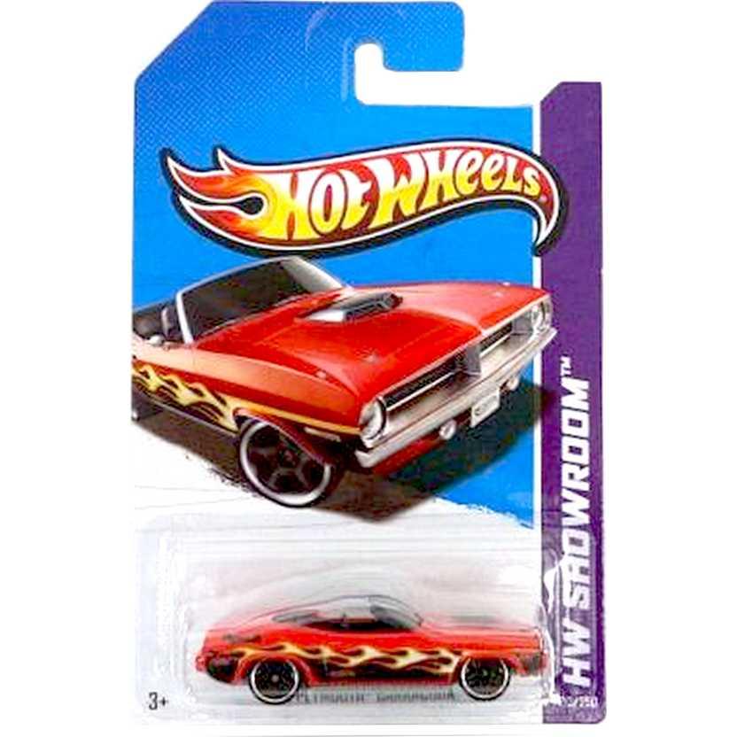 2013 Hot Wheels 70 Plymouth Barracuda vermelho X1798 series 213/250 escala 1/64