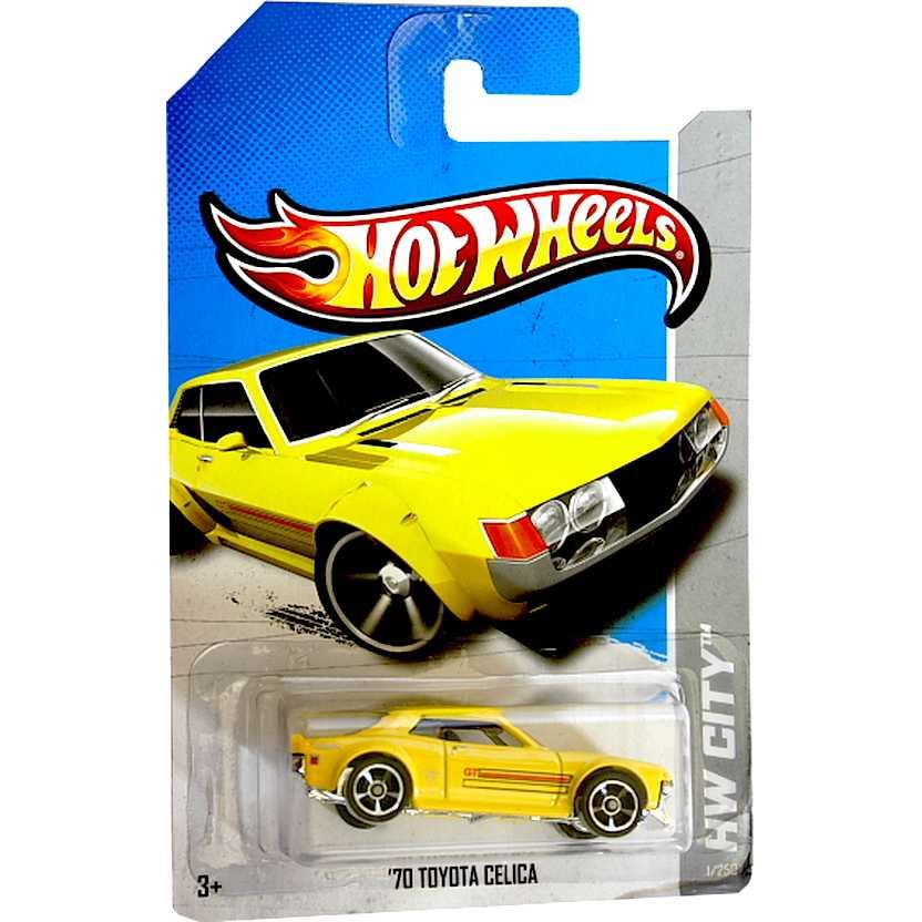 2013 Hot Wheels 70 Toyota Celica amarelo X1862 series 1/250 escala 1/64