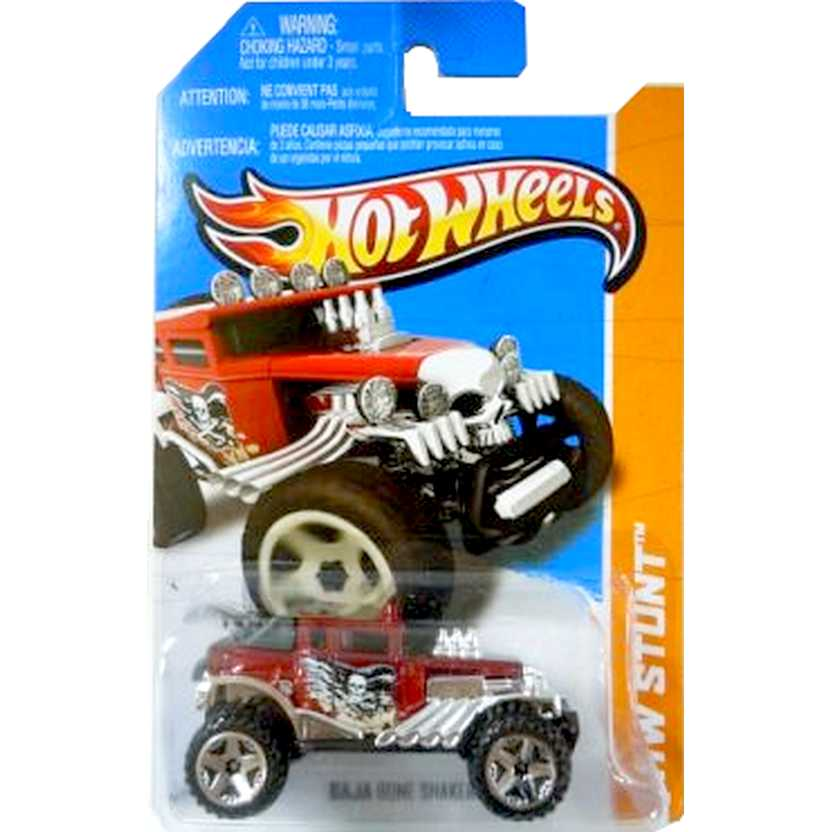 2013 Hot Wheels Baja Bone Shaker vermelho metálico X1921 series 90/250 escala 1/64