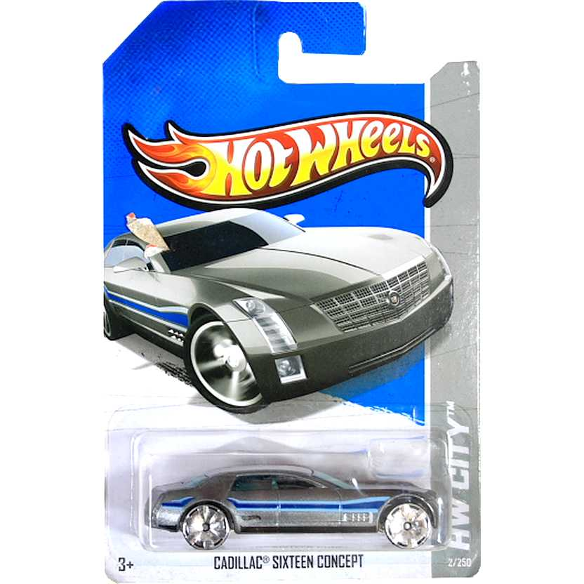 2013 Hot Wheels Cadillac Sixteen Concept X1662 series 2/250 escala 1/64