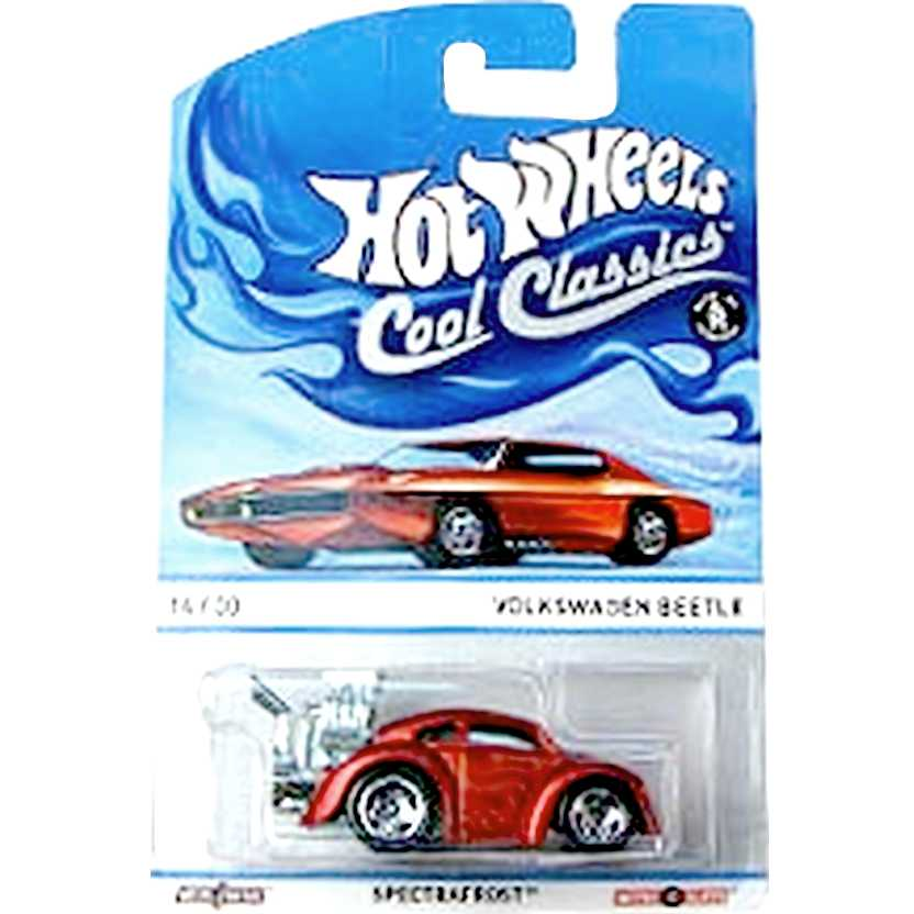 2013 Hot Wheels Cool Classics Volkswagen Fusca/Beetle Spectrafrost Y9437 14/30 escala 1/64