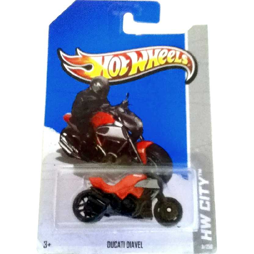 2013 Hot Wheels Ducati Diavel vermelha series 9/250 X1641 escala 1/64