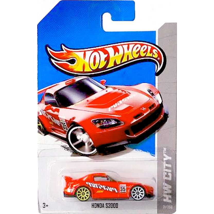 2013 Hot Wheels Honda S2000 vermelho X1873 series 21/250 escala 1/64